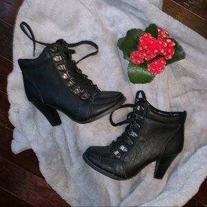 Black Leather Ankle Booties 🌻